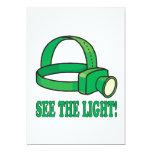 Vea la luz invitación 12,7 x 17,8 cm