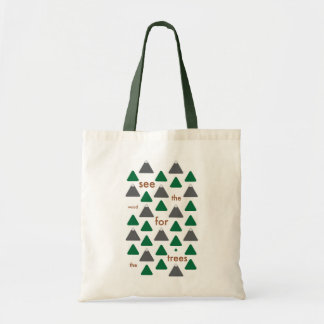 Vea la madera para los árboles bolsa de mano