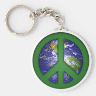 Vea la paz de mundo llavero