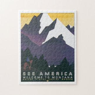 Vea la recepción de América al viaje del vintage Rompecabezas