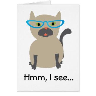 Vea la tarjeta de cumpleaños del gato