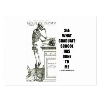 Vea lo que ha hecho la escuela a mí (esqueleto) tarjetas postales