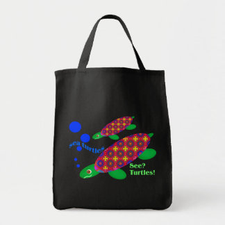 Vea los bolsos de la oscuridad de las tortugas bolsa tela para la compra