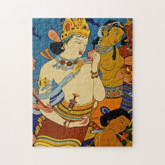 Vea los frescos de Ajanta del ~ de la India Puzzle