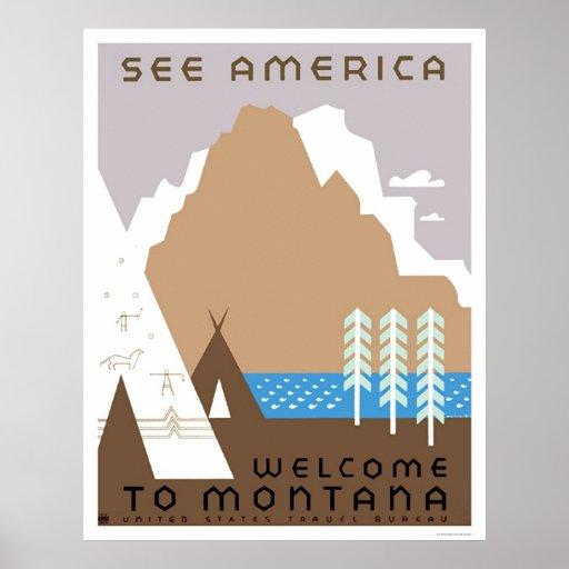 Vea Montana y América WPA 1938 Posters