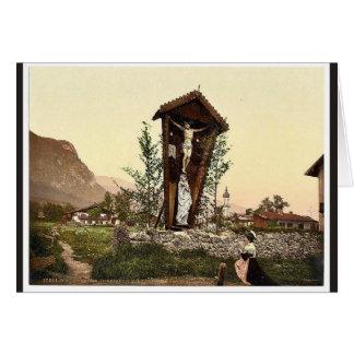 Vea mostrar el crucifijo Garmisch Baviera superi Felicitacion