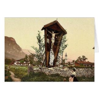 Vea mostrar el crucifijo Garmisch Baviera superi Felicitación