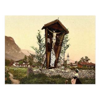 Vea mostrar el crucifijo Garmisch Baviera superi Postales