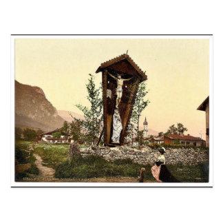 Vea mostrar el crucifijo Garmisch Baviera superi Postal