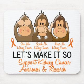 Vea que hablar no oiga a ningún cáncer 2 del riñón alfombrilla de ratón