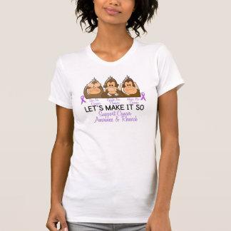 Vea que hablar no oiga a ningún cáncer 2 tee shirt