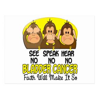 Vea que hablar no oiga a ningún cáncer de vejiga 1 tarjetas postales