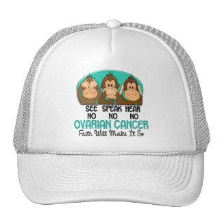 Vea que hablar no oiga a ningún cáncer ovárico 1 gorras de camionero