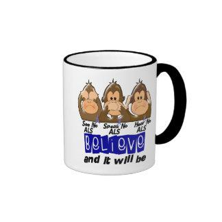 Vea que hablar no oiga ningún ALS 3 Taza De Café