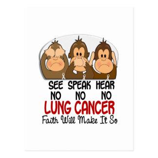 Vea que hablar no oiga ningún cáncer de pulmón 1 postal