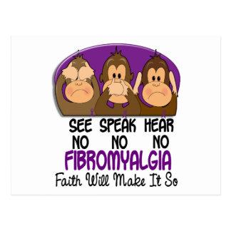 Vea que hablar no oiga ningún Fibromyalgia 1 Postales