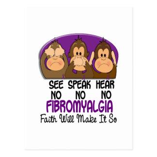 Vea que hablar no oiga ningún Fibromyalgia 1 Postal