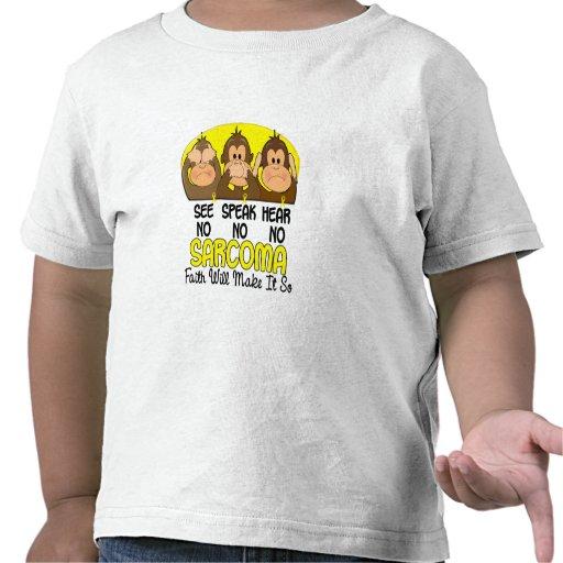 Vea que hablar no oiga ningún sarcoma 1 camiseta
