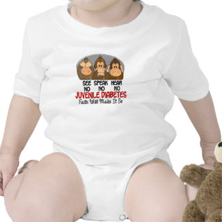 Vea que hablar no oiga ninguna diabetes juvenil 1 traje de bebé