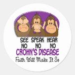 Vea que hablar no oiga ninguna enfermedad 1 de etiqueta redonda