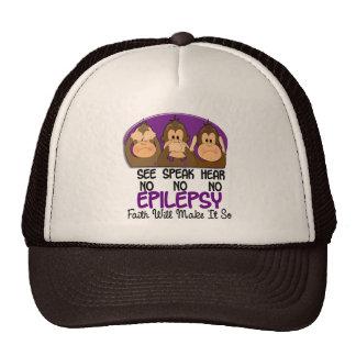 Vea que hablar no oiga ninguna epilepsia 1 gorras de camionero