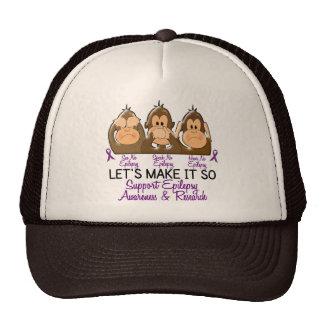 Vea que hablar no oiga ninguna epilepsia 2 gorra