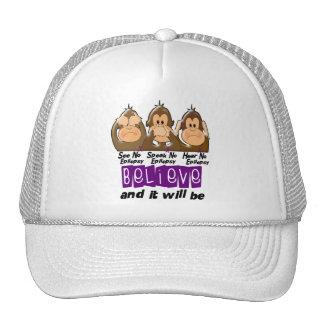 Vea que hablar no oiga ninguna epilepsia 3 gorra