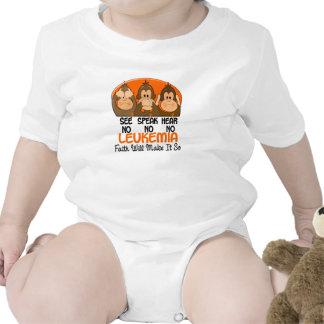Vea que hablar no oiga ninguna leucemia 1 traje de bebé