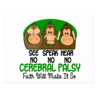 Vea que hablar no oiga ninguna parálisis cerebral  tarjetas postales