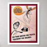 Vea su malaria del doctor For Proper Tretment For Posters