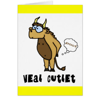 Veal Cutlet Card Greeting Card