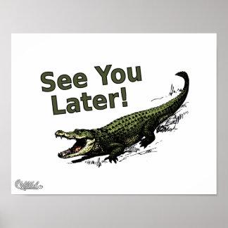 Véale cocodrilo posterior póster