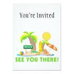 Véale en la playa invitación 12,7 x 17,8 cm
