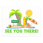 Véale en la playa tarjeta postal