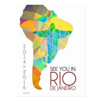 Véale en la postal de Río de Janeiro - de Suraméri