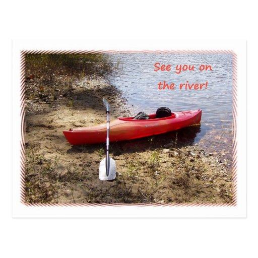 Véale en la postal del río