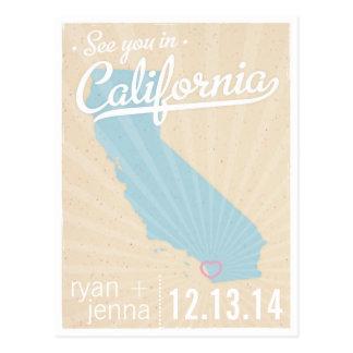 Véale en la reserva de California la postal de la