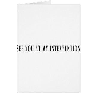Véale en mi intervención tarjeta de felicitación