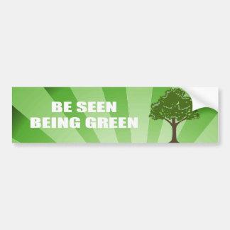 Véase ser verde etiqueta de parachoque