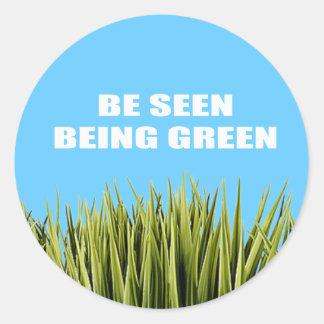 Véase ser verde pegatina redonda