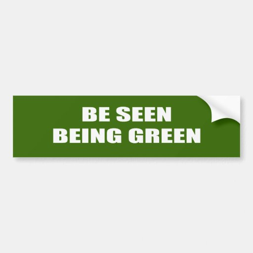 Véase ser verde pegatina para auto