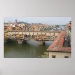 vecchio del ponte, Florencia Poster