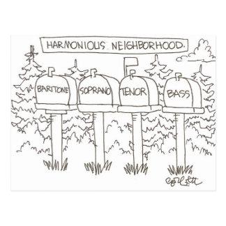 Vecindad armoniosa:: 'Barítono, soprano, Postales
