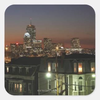 Vecindad de las alturas de Dorchester de Boston Calcomania Cuadradas Personalizadas