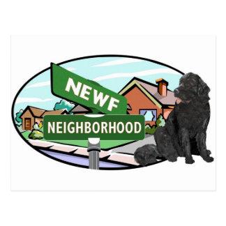 Vecindad de Newf Tarjeta Postal