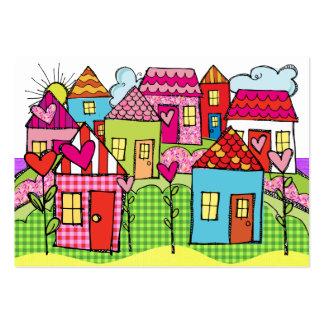 Vecindad feliz - SRF Tarjetas De Visita Grandes