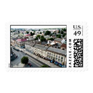 Vecindad temática, una vista aérea de la ciudad sello
