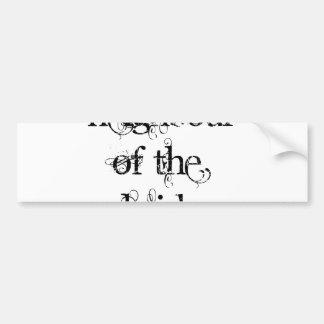 Vecino de la novia etiqueta de parachoque