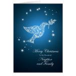Vecino y familia, paloma de la tarjeta de Navidad