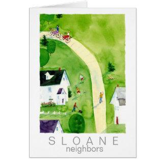 vecinos tarjeta de felicitación